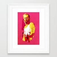 die hard Framed Art Prints featuring Live fast die hard by Robert Farkas