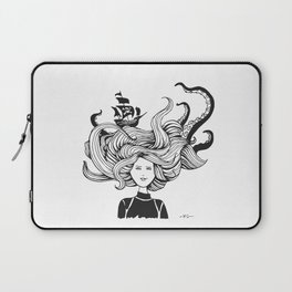 """ Sea Battle"" Hair Laptop Sleeve"