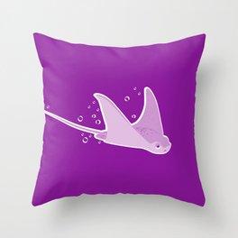 Apathetic Stingray Throw Pillow