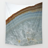 agate Wall Tapestries featuring Agate by CAROL HU
