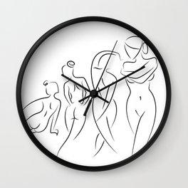 Ladies in Lines Wall Clock