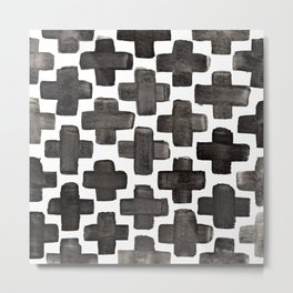 Black & White Crosses - Katrina Niswander Metal Print