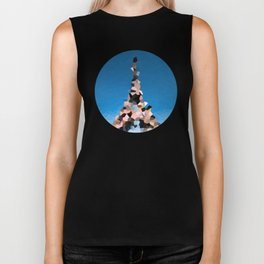 Paris Eiffel Tower Abstract Geometric Biker Tank