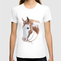 western T-shirts featuring Western Horse by Natalia Elina