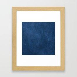 Blue leather texture Framed Art Print