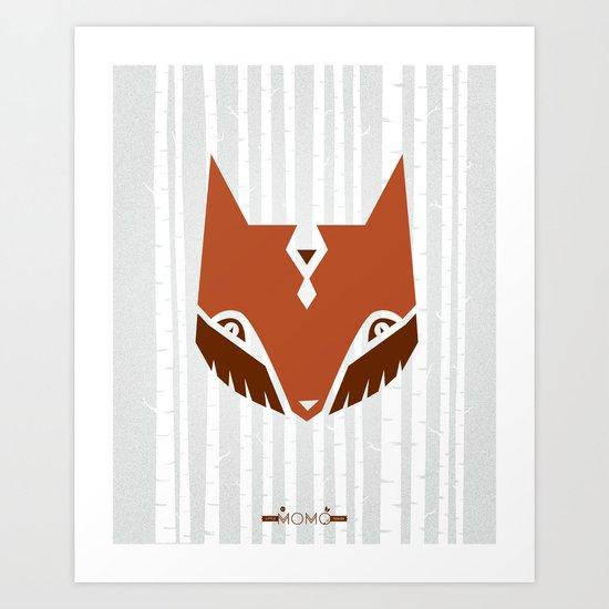 The Woods & Mr. Fox Art Print