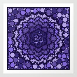OM Symbol - Dot Art - purple palette Art Print