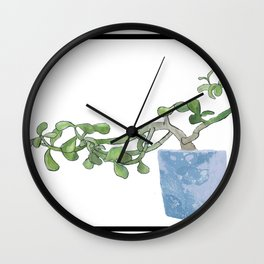 Plants are the best people Wall Clock