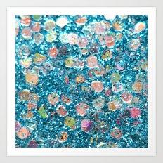 Mermaid Scales 2 - Blue Art Print