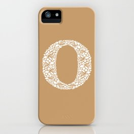 Floral Letter O iPhone Case