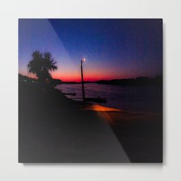 Sitting by the Sunset Metal Print