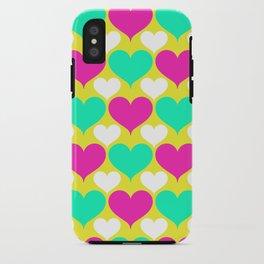 Happy hearts iPhone Case