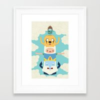 adventure Framed Art Prints featuring Adventure Totem by Daniel Mackey