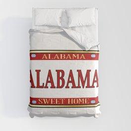 Alabama State Name License Plate Comforters