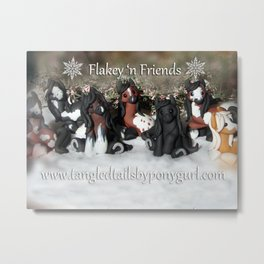 Tangled Tails by PonyGurl Flakey 'n Friends Metal Print