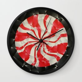 Peppermint Swirl Wall Clock