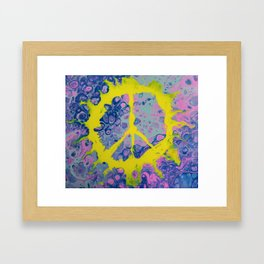 Peace Power Framed Art Print