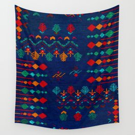 -A17- Anthropologie Moroccan Blue Artwork. Wall Tapestry