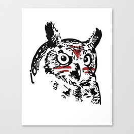 Native Owl Canvas Print