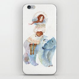 The bear and the princess iPhone Skin