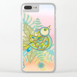 Free tropical bird Clear iPhone Case
