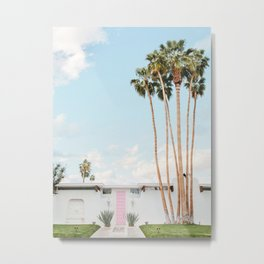 Pink Door in Palm Springs Metal Print
