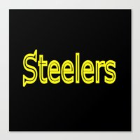 steelers Canvas Prints featuring Steelers - #1 by Judy Palkimas