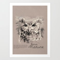 Owl (BornInNature) Art Print