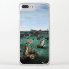 """Hendrik Cornelisz Vroom """"The Arrival of Elector Frederick V of the Palatinate and Elizabeth"""" Clear iPhone Case"""