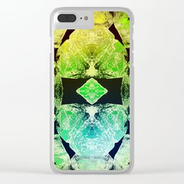 Green Mandala-Heart Chakra Clear iPhone Case