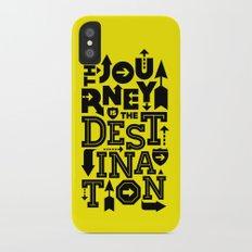 Yellow Journey Quote iPhone X Slim Case
