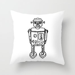 just a robot Throw Pillow