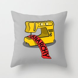 Anarchy Sewing Machine Throw Pillow