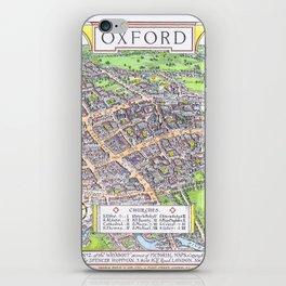 OXFORD university map ENGLAND dorm decor iPhone Skin