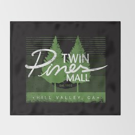 Twin Pines Mall Throw Blanket