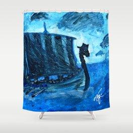 Viking's Journey by Erik Sciarra Shower Curtain