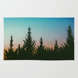 TREES - SUNSET - SUNRISE - SKY - COLOR - FOREST - PHOTOGRAPHY Rug