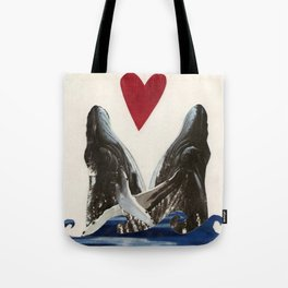 Whales in Love Tote Bag