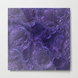 Purple metal rain drops Metal Print