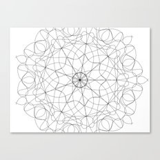 mandala art - floral Canvas Print