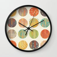 celestial Wall Clocks featuring CELESTIAL BODIES by Daisy Beatrice