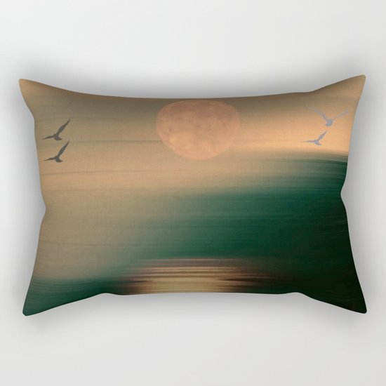 Amber Skies Abstract Rectangular Pillow