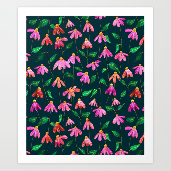 Touched By Love    #illustration #pattern Art Print