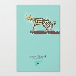Endangered: The Amur Leopard Canvas Print