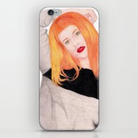 hayley williams iPhone & iPod Skins featuring Hayley Williams by Natalie Huber