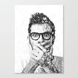 Geometric man Canvas Print