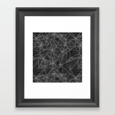 Spiderwebs - Webs in black and white Framed Art Print