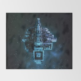 Leviathan BLUE / Keep on trucking Throw Blanket