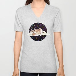 Derp Bambi in Space Unisex V-Neck