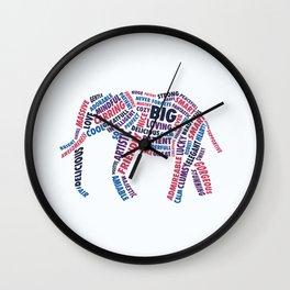 Possitive Elephant  Wall Clock